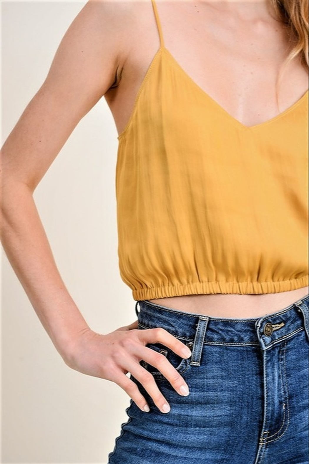 jane+1 Cropped Slouch Tank - Front Full Image