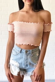 debut Cropped Smock Top - Front cropped