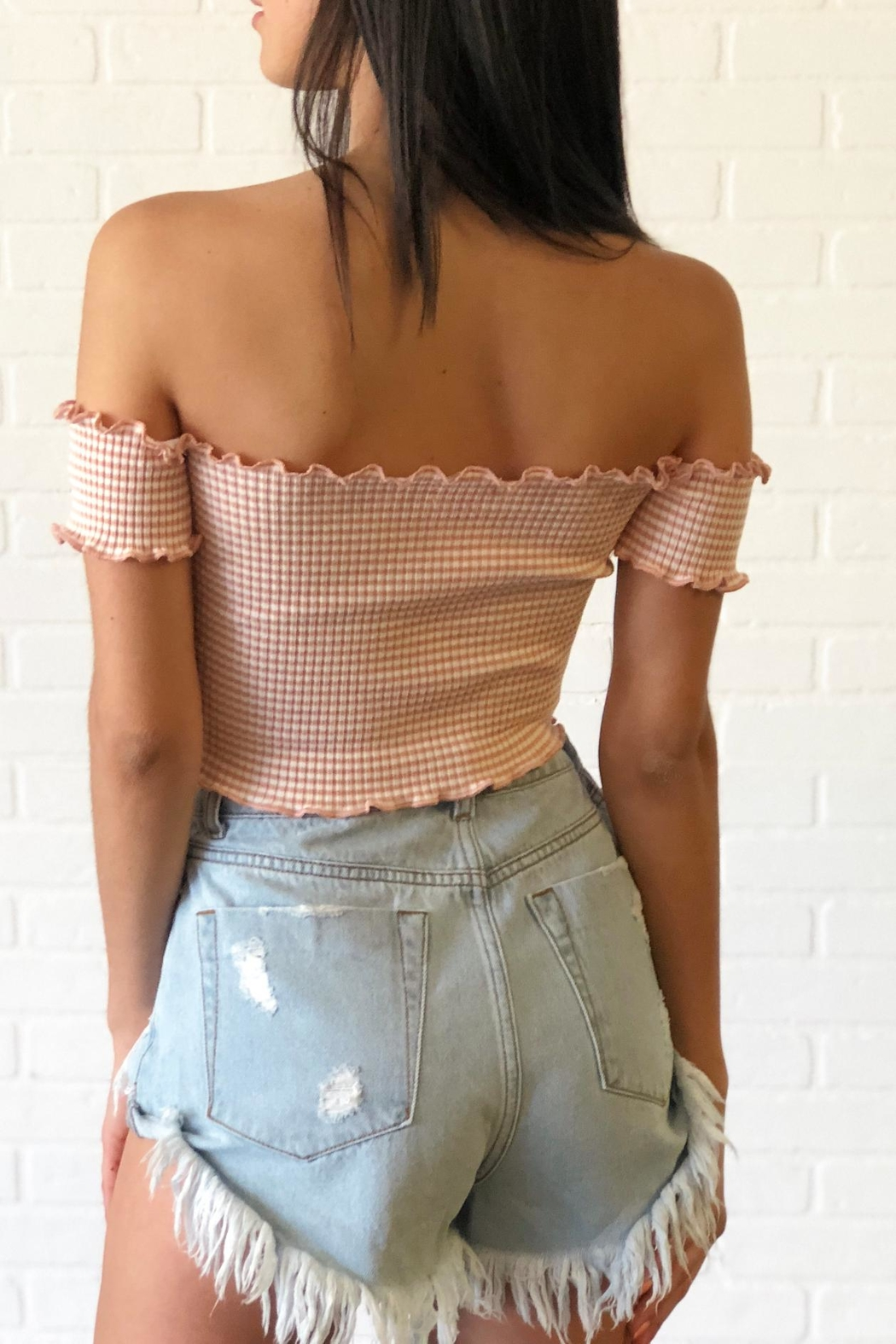 debut Cropped Smock Top - Side Cropped Image