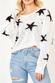Olivaceous Cropped Star Sweater - Product Mini Image