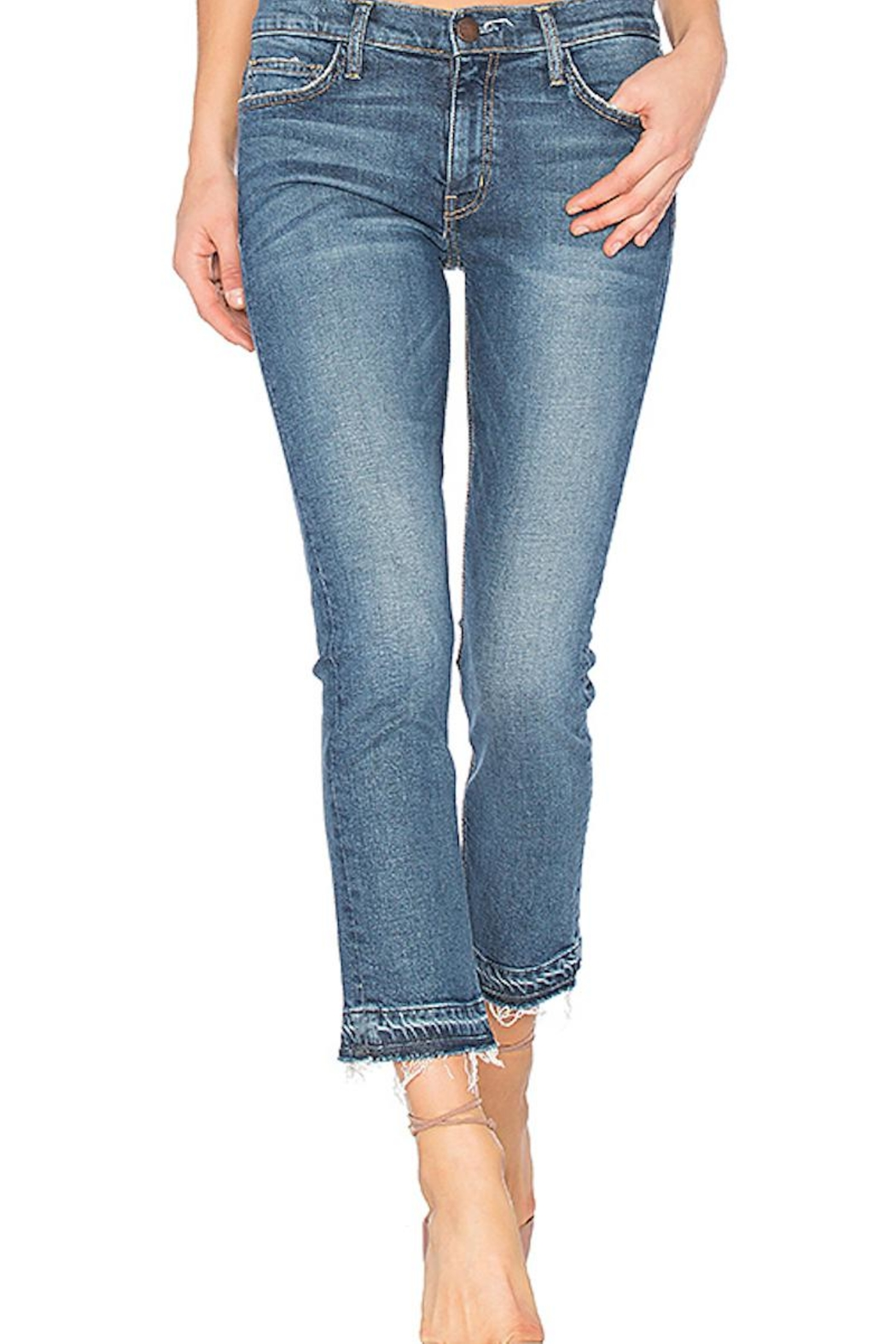 Current Elliott Cropped Straight Jeans - Main Image