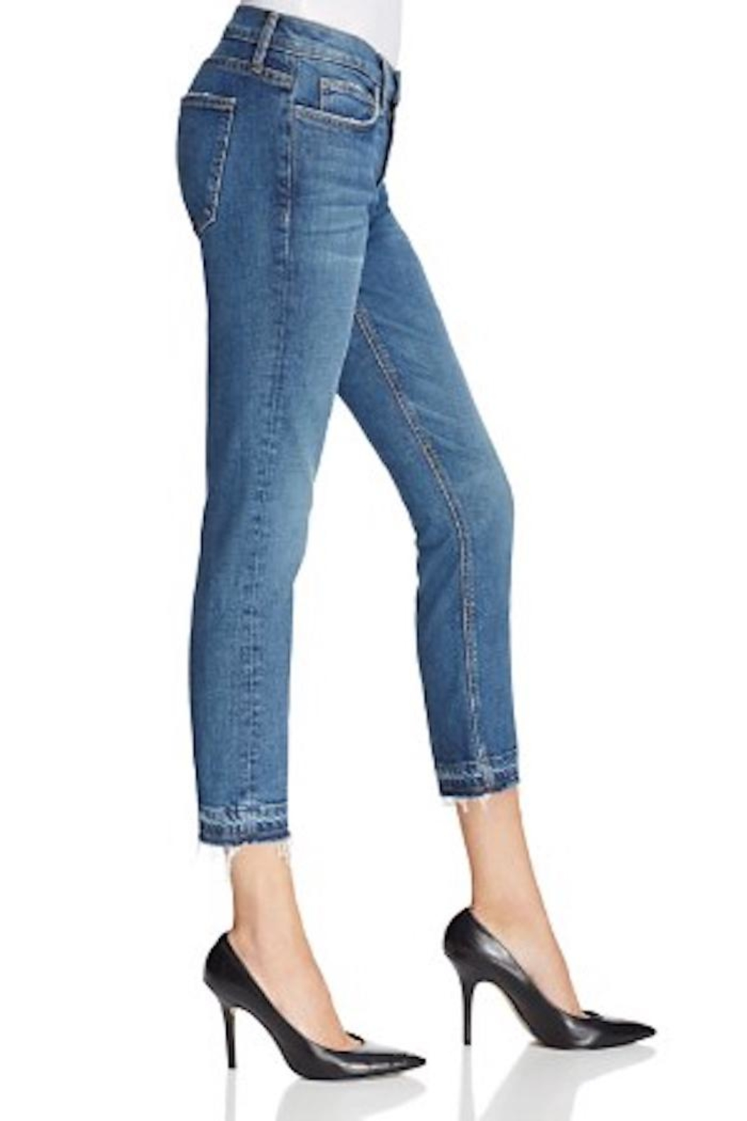 Current Elliott Cropped Straight Jeans - Front Full Image