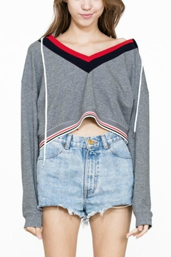 Shoptiques Product: Cropped Striped Hoodie