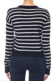 Olivaceous Cropped Striped Sweater - Front full body