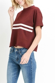 C'Est Toi Cropped Striped Tee - Product Mini Image