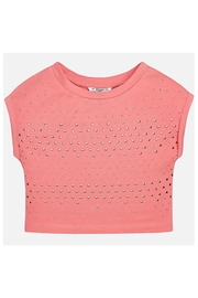 Mayoral Cropped Studded Tee - Front cropped