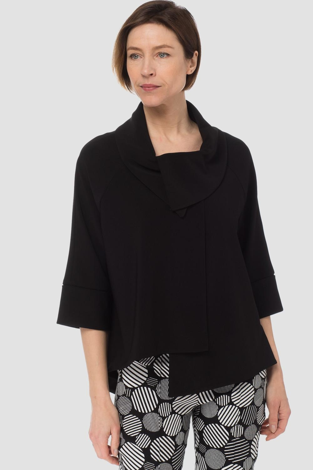 Joseph Ribkoff Cropped Swing Coat - Front Cropped Image