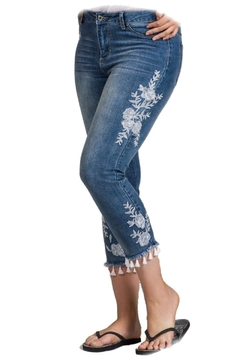 GG Jeans Cropped Tassel Jean - Product List Image