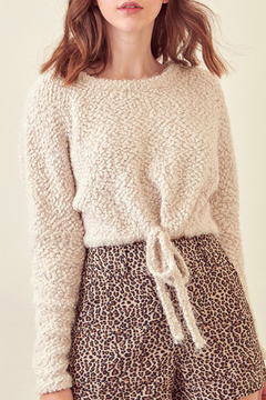 storia Cropped Teddy Sweater - Product List Image