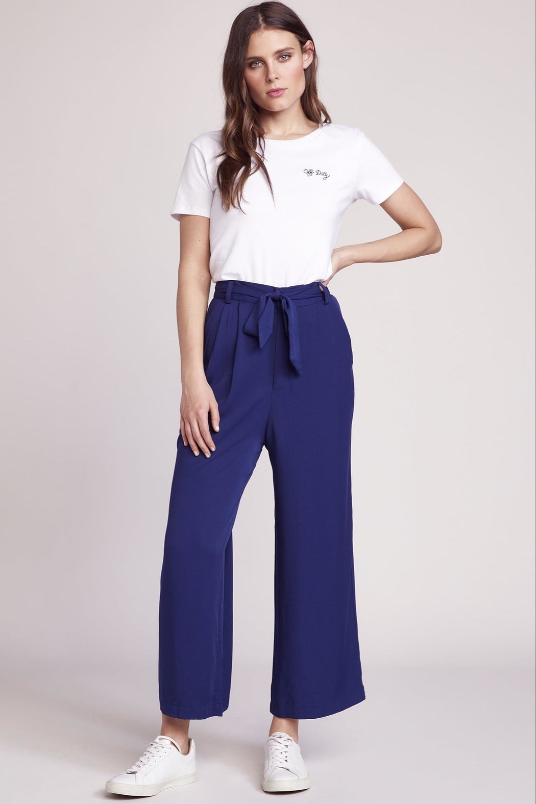 BB Dakota Cropped Tie Pant - Back Cropped Image