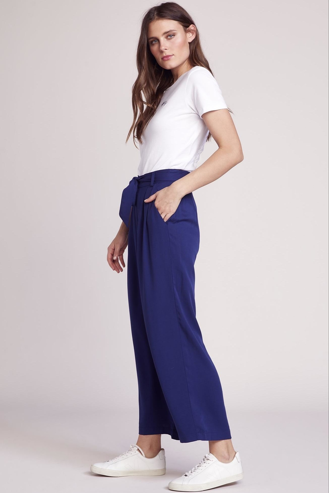 BB Dakota Cropped Tie Pant - Front Full Image