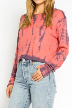 Olivaceous  Cropped Tiedye Sweater - Alternate List Image