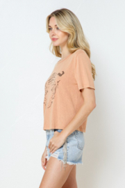 Blue B Cropped Tiger Tee - Front full body