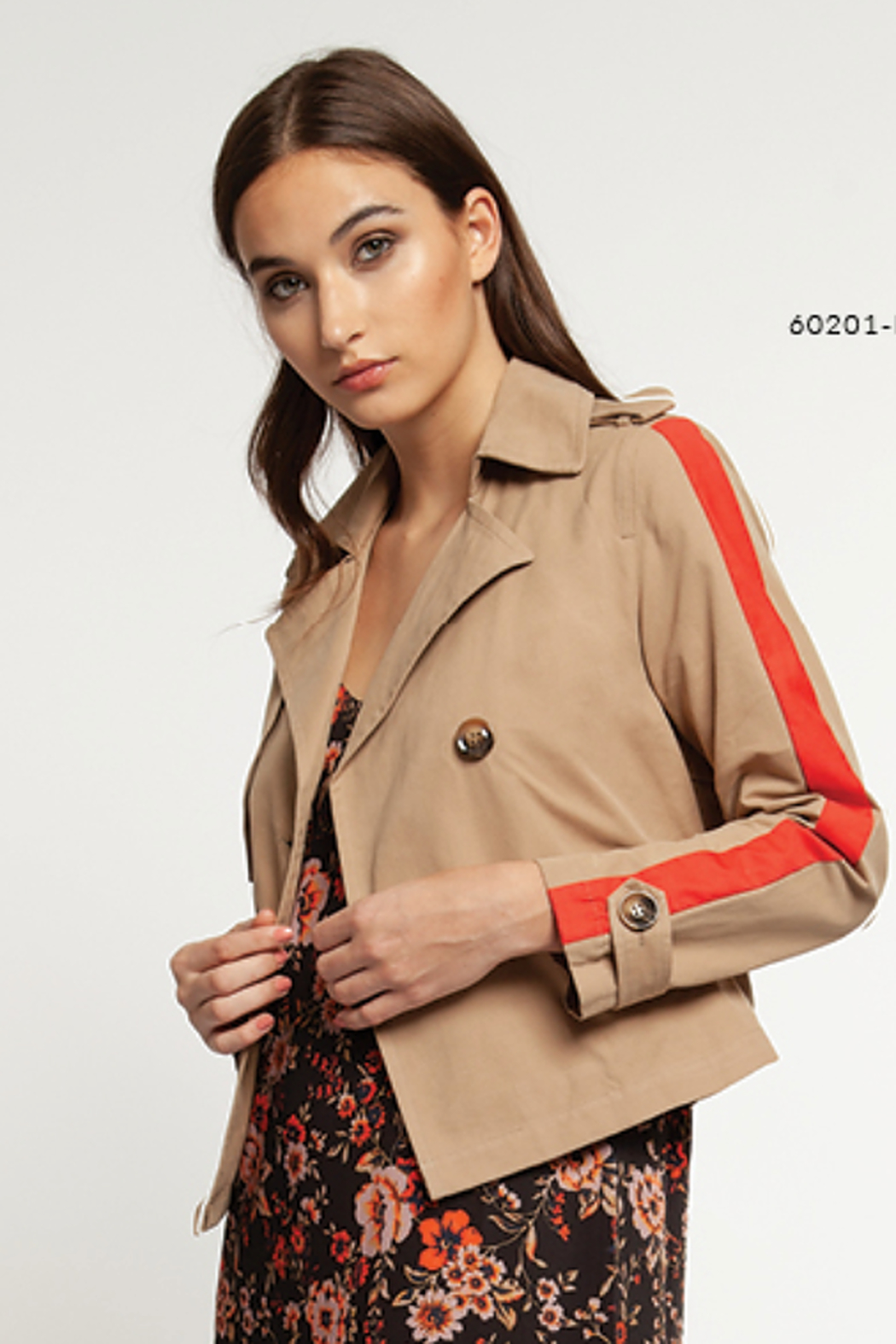 Dex Cropped Trench Coat - Main Image