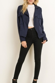 Charme U Cropped Trench Coat - Product Mini Image
