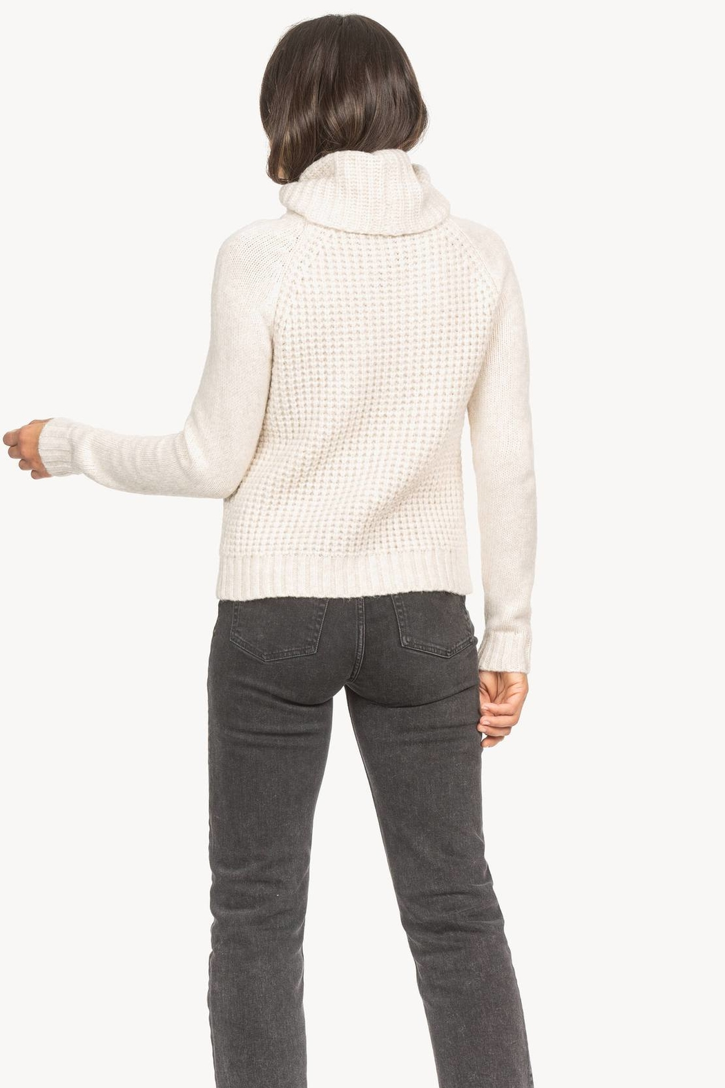 Lilla P Cropped Turtleneck Sweater - Front Full Image