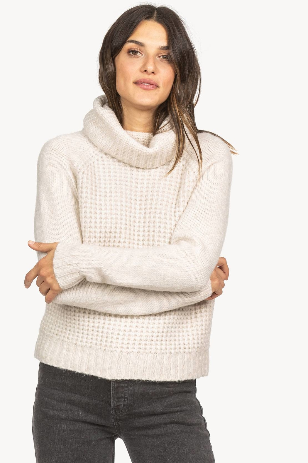 Lilla P Cropped Turtleneck Sweater - Side Cropped Image