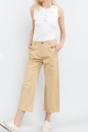 POL  Cropped Twill Pants - Front cropped