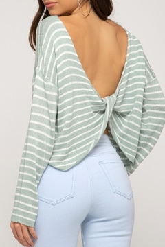 She + Sky Cropped Twist-Back Sweater - Product List Image
