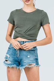 Cozy Casual Cropped Twist Top - Product Mini Image