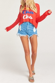 Show Me Your Mumu Cropped Varsity Sweater - Side cropped