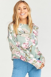 Show Me Your Mumu Cropped Varsity Sweater - Product Mini Image