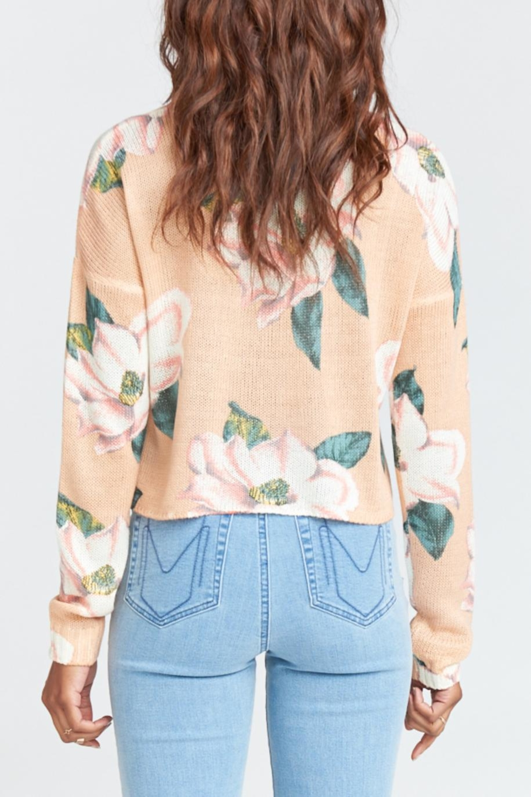 Show Me Your Mumu Cropped Varsity Sweater - Side Cropped Image
