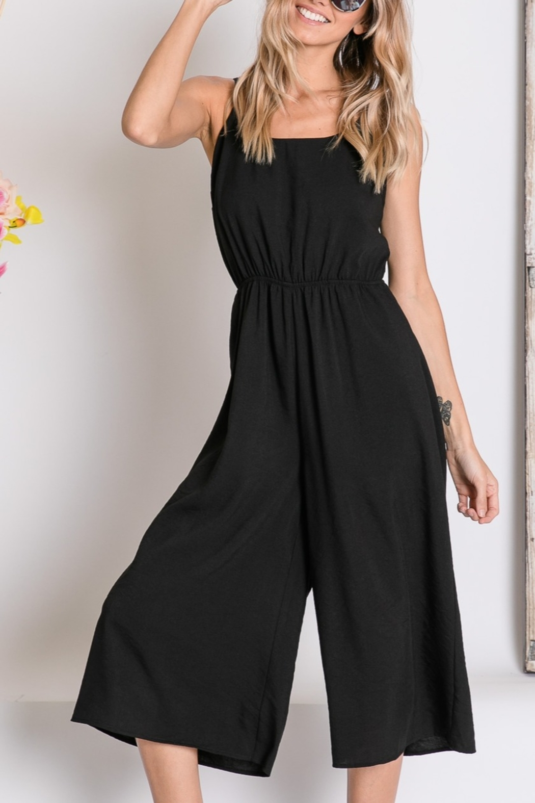 Lyn -Maree's Cropped Wide Leg Jumpsuit - Main Image
