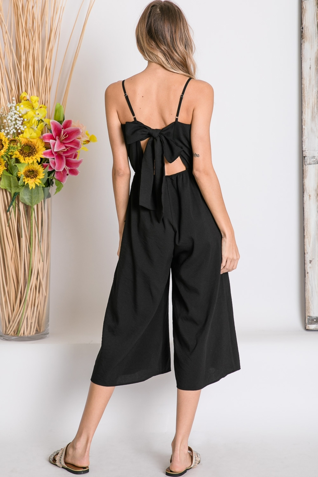 Lyn -Maree's Cropped Wide Leg Jumpsuit - Front Full Image