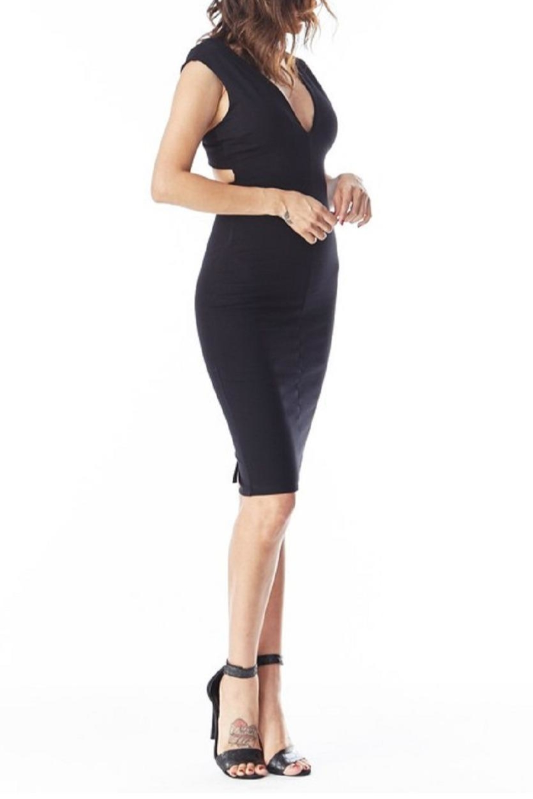 Top 10 Cross-Back Bodycon Lbd - Side Cropped Image
