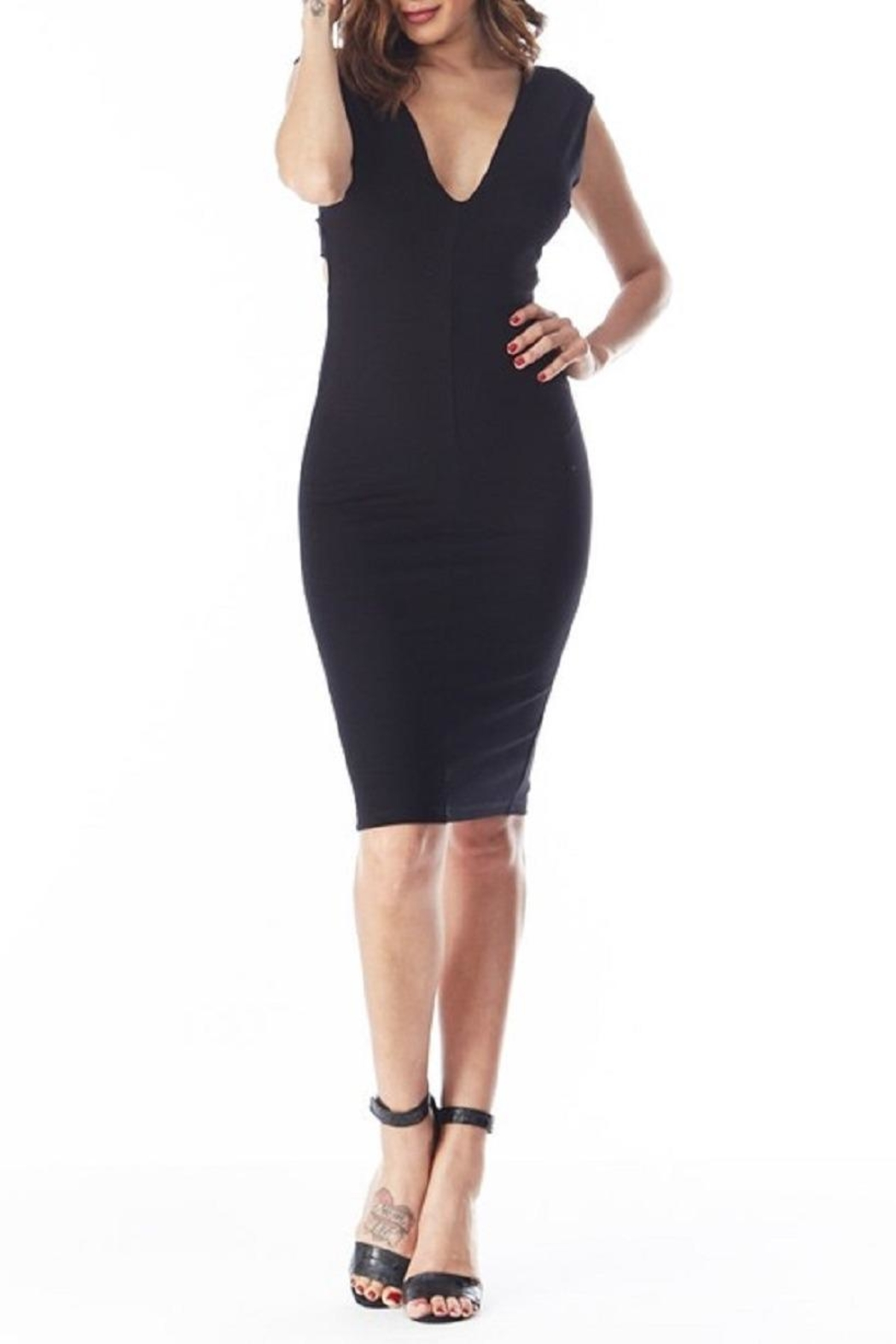 Top 10 Cross-Back Bodycon Lbd - Front Full Image