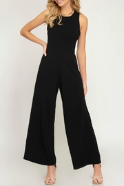 She + Sky Cross Back Jumpsuit - Product Mini Image