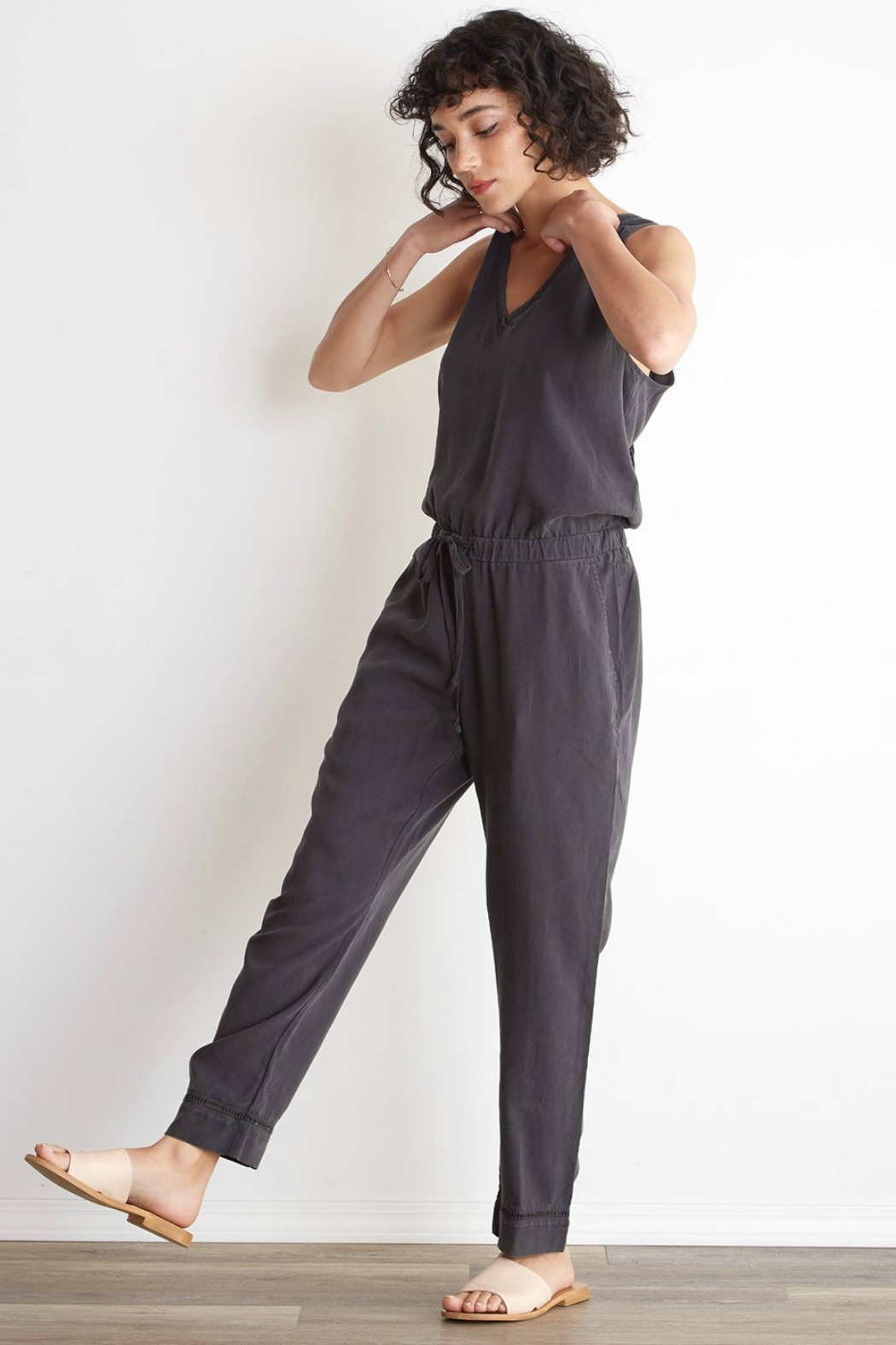 Bella Dahl  Cross Back Jumpsuit - Back Cropped Image