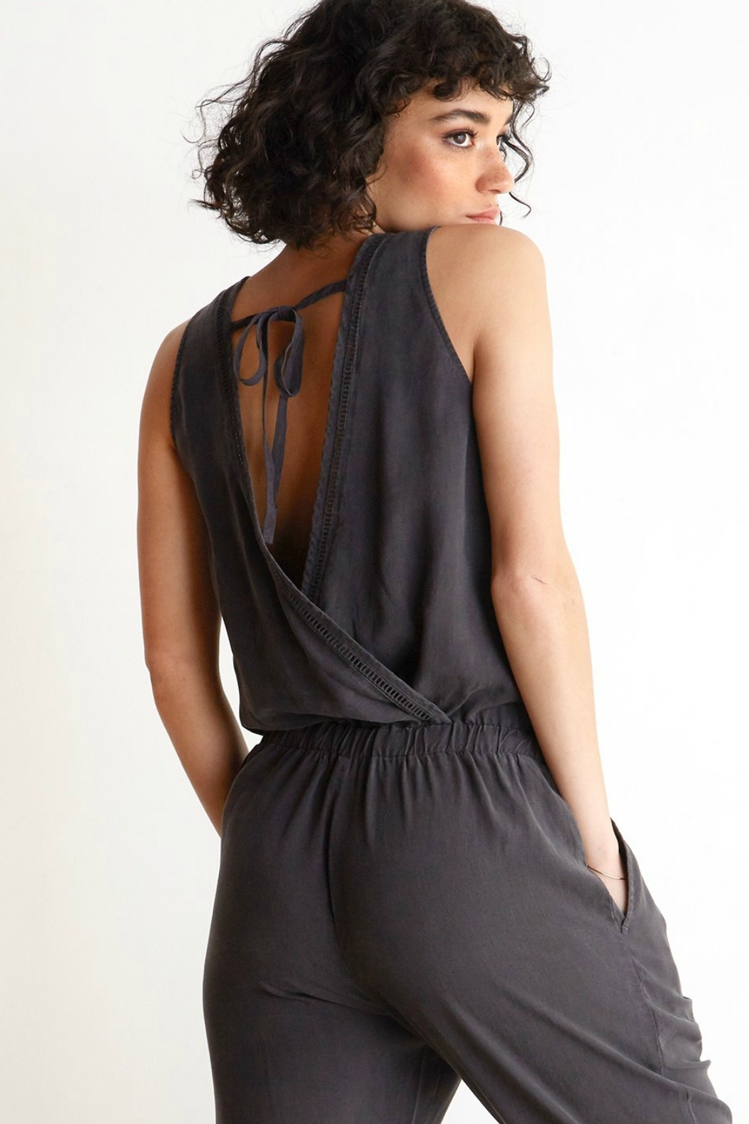 Bella Dahl  Cross Back Jumpsuit - Side Cropped Image