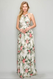 AAKAA Cross-Back Print Maxi - Front cropped