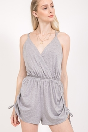 Very J  Cross Back Romper - Product Mini Image