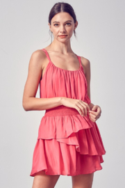 Do + Be  Cross Back Ruffle Dress - Product Mini Image
