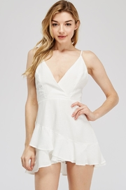 The Clothing Co Cross-Back Ruffle Romper - Product Mini Image