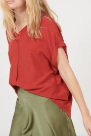 See U Soon Cross Back V Neck Blouse - Product Mini Image