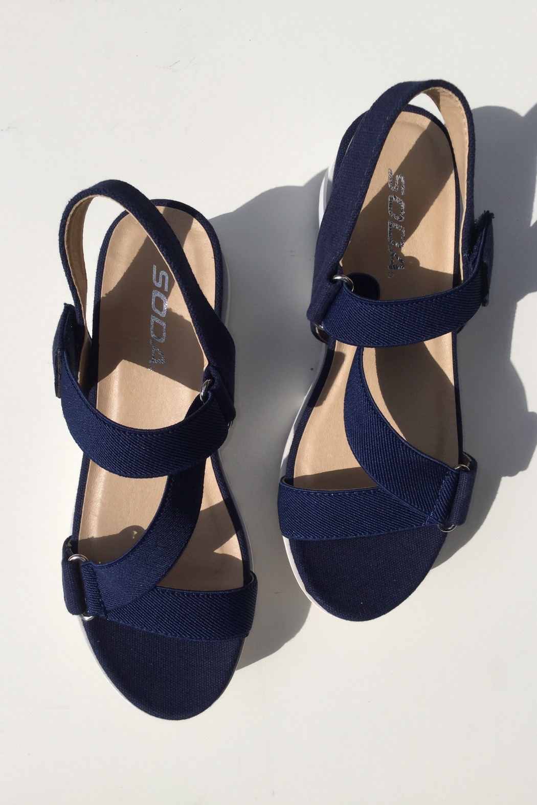 Soda Cross Band Chunky Sandal - Front Cropped Image
