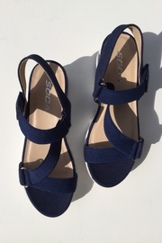 Soda Cross Band Chunky Sandal - Front cropped