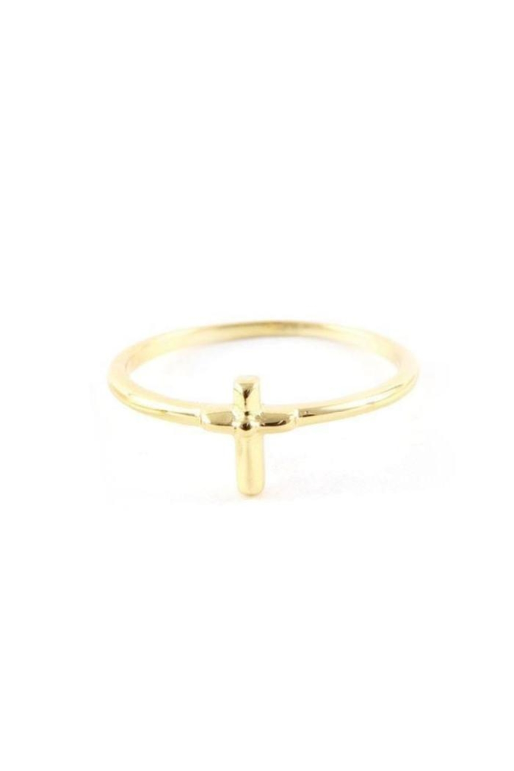 Ettika Cross Charm Ring - Front Cropped Image