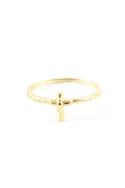Ettika Cross Charm Ring - Front cropped