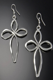 Anju Handcrafted Artisan Jewelry Cross Earring - Front cropped