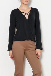 Veronica M Cross Front Bell Sleeve Blouse - Product Mini Image