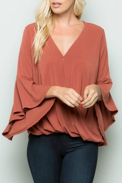 Shoptiques Product: Cross-Front Bell-Sleeve Top