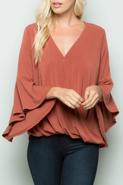 eesome Cross-Front Bell-Sleeve Top - Product Mini Image