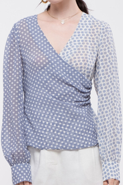 Moon River Cross Front Blouse - Product Mini Image