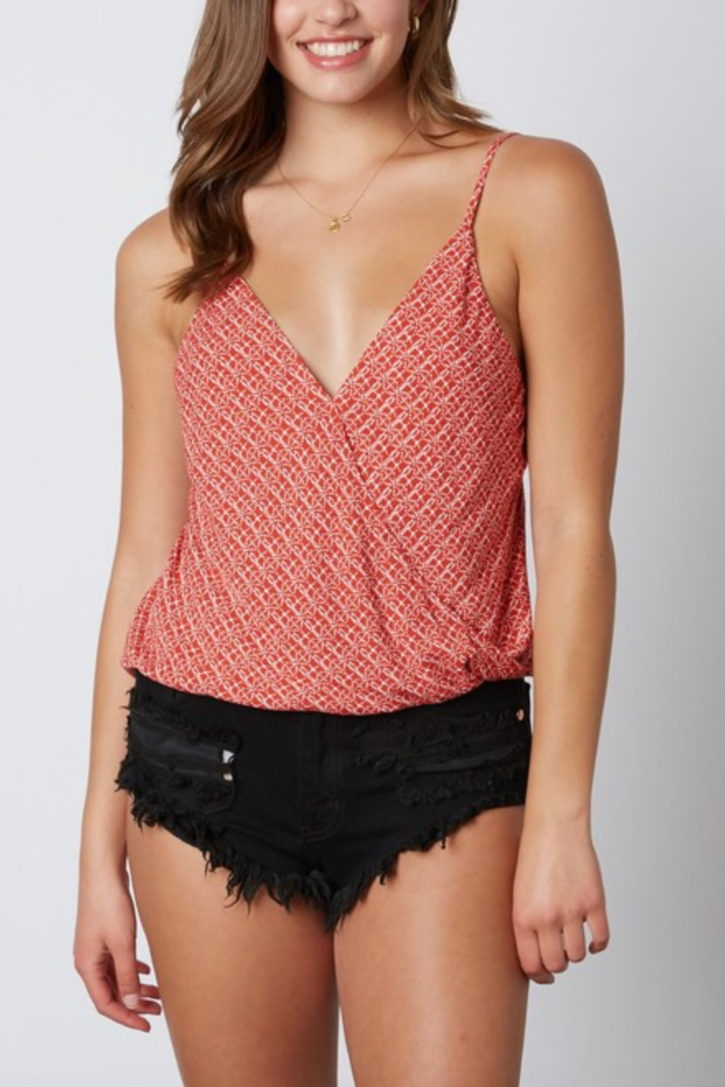 Cotton Candy LA Cross Front Cami - Front Cropped Image