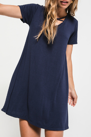 z supply Cross Front Tee Dress - Product Mini Image